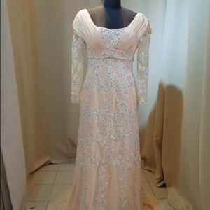 Dresses & Skirts - Custom Made Beaded Blush Gown