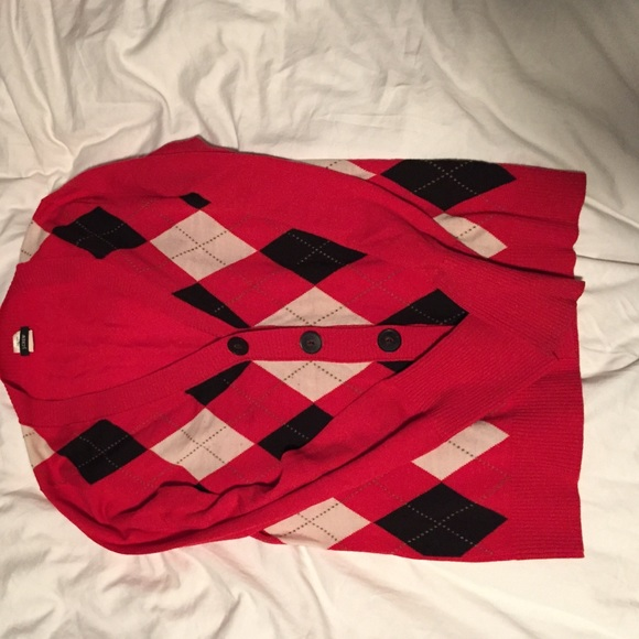 J. Crew Sweaters - Black white and red sweater. J.Crew size Small