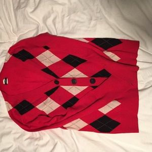 Black white and red sweater. J.Crew size Small