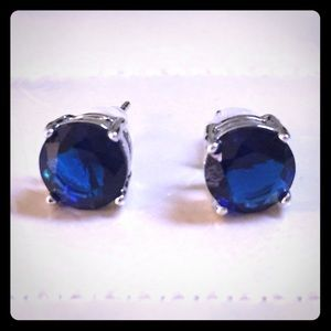 Jewelry - NEW Sapphire and Silver Earrings
