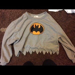 Batman cropped sweater size small