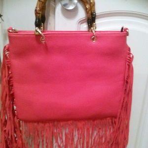 d02c35bf490b Handbags - NWOT Coral Fringe Handbag