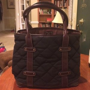 J. Crew black and brown tote