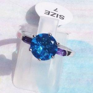 Unknown Jewelry - 💕Brand New Beautiful Blue Topaz Amethyst 💍❗️❕❗️