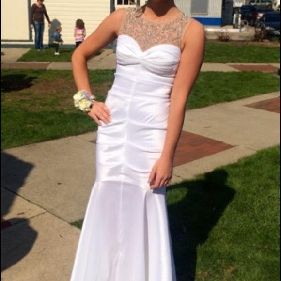 Davids Bridal Dresses White Mermaid Prom Dress Poshmark