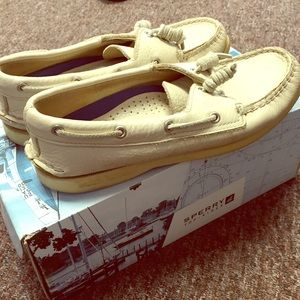 Sperry Top-Sider White Leather Boat Shoes