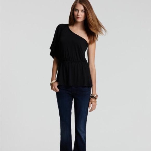 f942bbe1c8e61f Black one shoulder tunic shirt