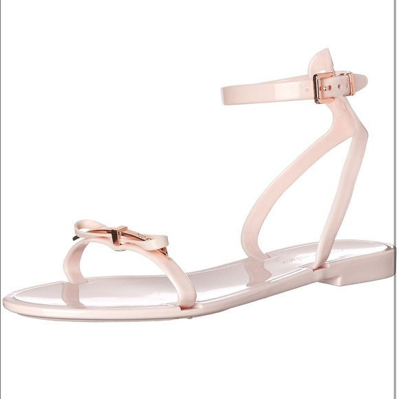 ee418bf45bed6 Ted Baker Pink and Rose Gold jelly sandals! M 5554b6e36ba9e63e73002027