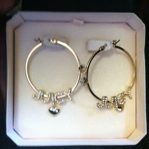 Brand new Juicy Couture hoop earrings