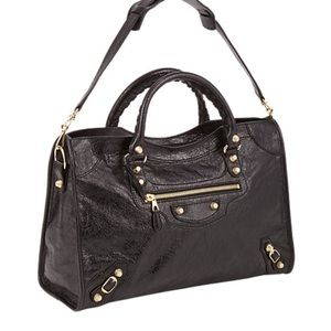 Balenciaga Handbags - Balenciaga city w/giant gold studs NWT