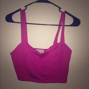 Hot pink crop top!