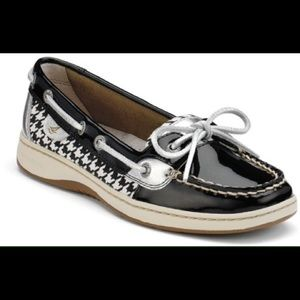 Sperry Top-Sider Shoes - Sperry Top siders!! Black and white hounds tooth