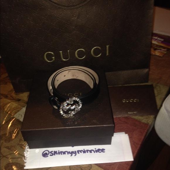 db49d04a7a5 Gucci Accessories - Gucci belt with Crystal interlocking G buckle