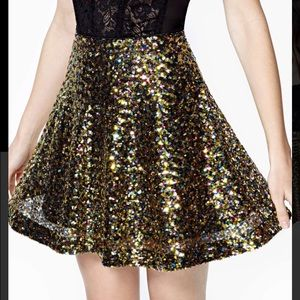 Nasty Gal Neverending Night Sequin Skirt