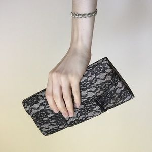 Clutches & Wallets - Black Lace Clutch