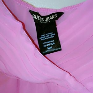 Pink baby doll GUESS top