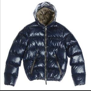Duvetica Jackets & Blazers - Navy blue Duvetica shiny nylon down jacket