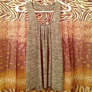 Greyscale tank top with braided back