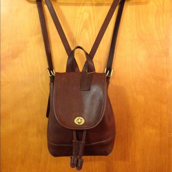 ef34ce47d6 Coach Handbags - Vintage Coach brown leather backpack.