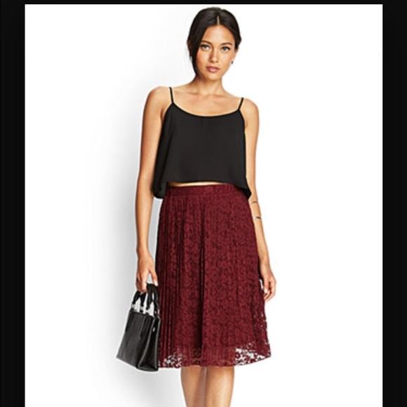 Maroon Midi Skirt - Dress Ala