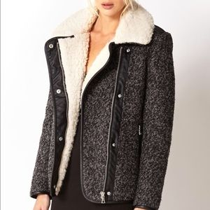 FOREVER 21 WINTER NIGHT FAUX SHEARLING BOMBER COAT