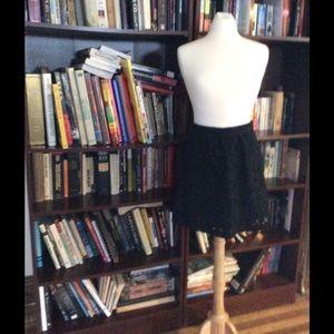 Black Eyelet Skirt