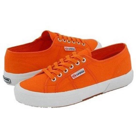 Superga Cotu Sneakers In Orange Tomato