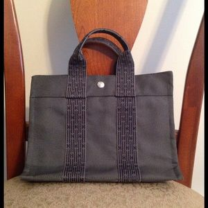 hermes canvas tote bag