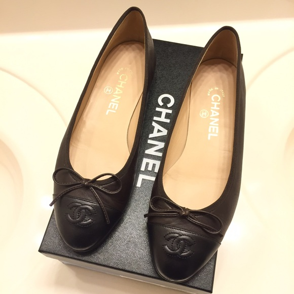 Chanel Black Ballet Shoes