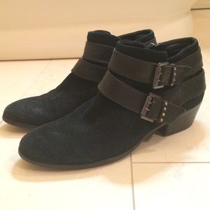 Sam Edelman Black Suede Booties Size 8.5