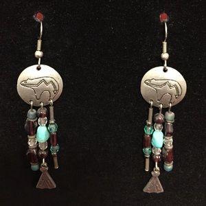 Southwest Bears and Bead Earrings