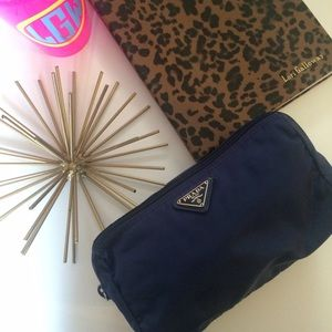 Prada Accessories - Navy Prada Makeup Bag