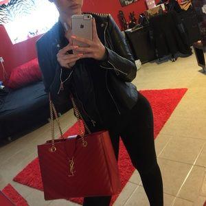 12 Off Yves Saint Laurent Handbags Auth Ysl Hot Pink Y