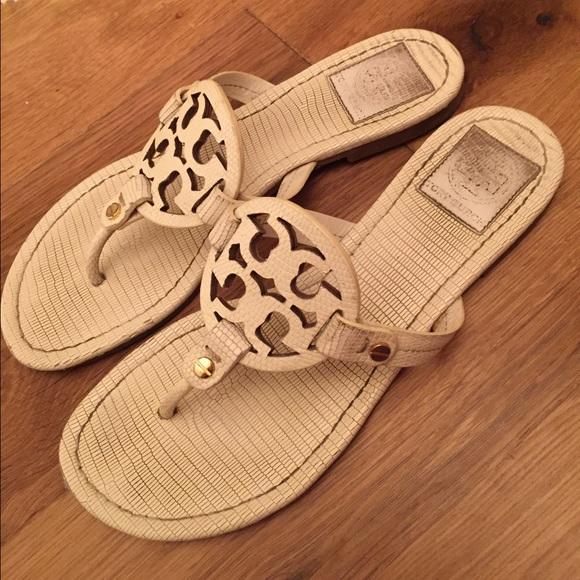 cdb0f071f34 White Tory burch miller sandals. M 555569149d64e543020045e1