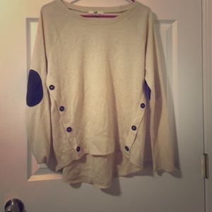 Sweater with Elbow Patches
