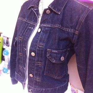Guess jeans  jacket vintage 80s style size small