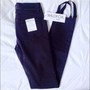 WILDFOX Skinny Stirrup Jeans