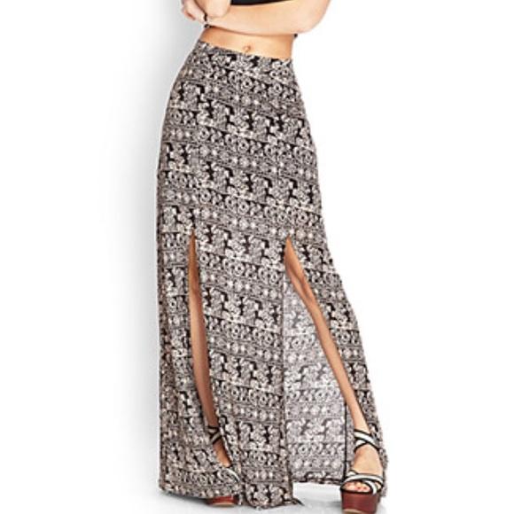 a30051db2 Forever 21 Skirts | Tribal Print Maxi Skirt | Poshmark