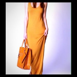 Wheat maxi dress