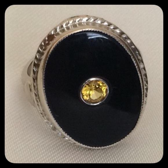 50 jewelry 14k antique black onyx and yellow