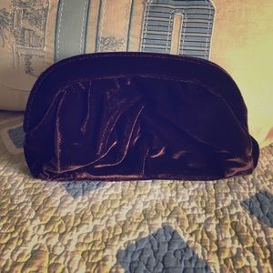 Chocolate Brown Velour Style Clutch