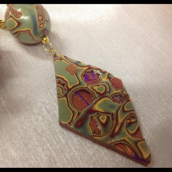 Jewelrybyshari jewelry handmade mokume gane polymer clay pendant m5555f6512de512457a004f8e aloadofball Gallery