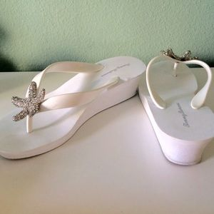 5f557dd67c6c61 Tommy Bahama Shoes - Tommy Bahama starfish wedge flip flop white