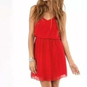 Beautiful Chiffon  Red Dress M/L