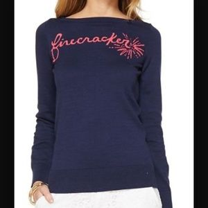 "Lilly Pulitzer Tops - ⚡️1 HR SALE⚡️Lilly Pulitzer ""Firecracker"" sweater"