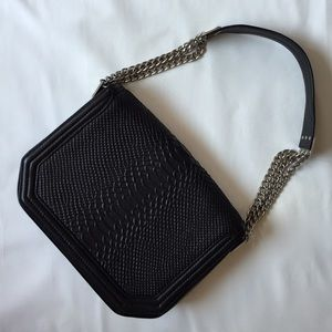 Foley + Corinna Handbags - Foley + Corinna black leather chain bag