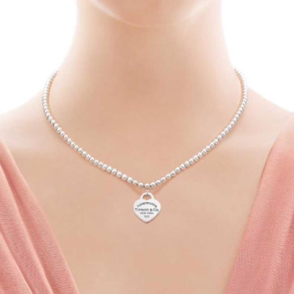 Tiffany Co Jewelry Tiffanys Sterling Silver Bead Necklace Poshmark