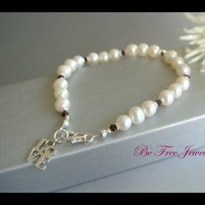 Jewelry - LOVE Cultured Pearl Charm Bracelet