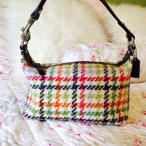 Coach Tattersall Hampton Wool Tweed purse