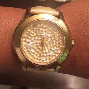 DKNY Crystal Studded Gold watch